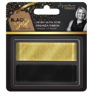 "Sara Signature : Black & Gold - Satin Edge Organza Ribbon 1"" (2pk)"
